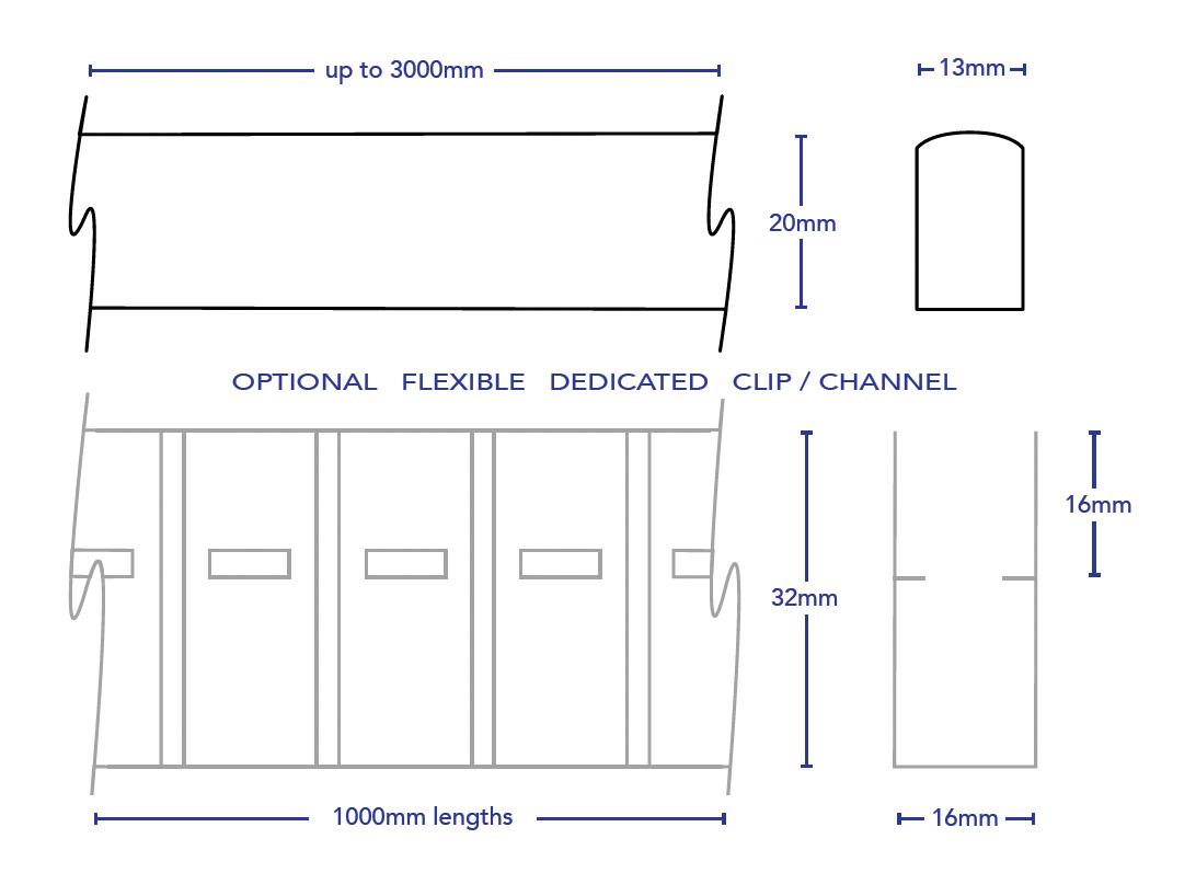 Led Rope Light Sideemitting. 4440, 4490.lineart