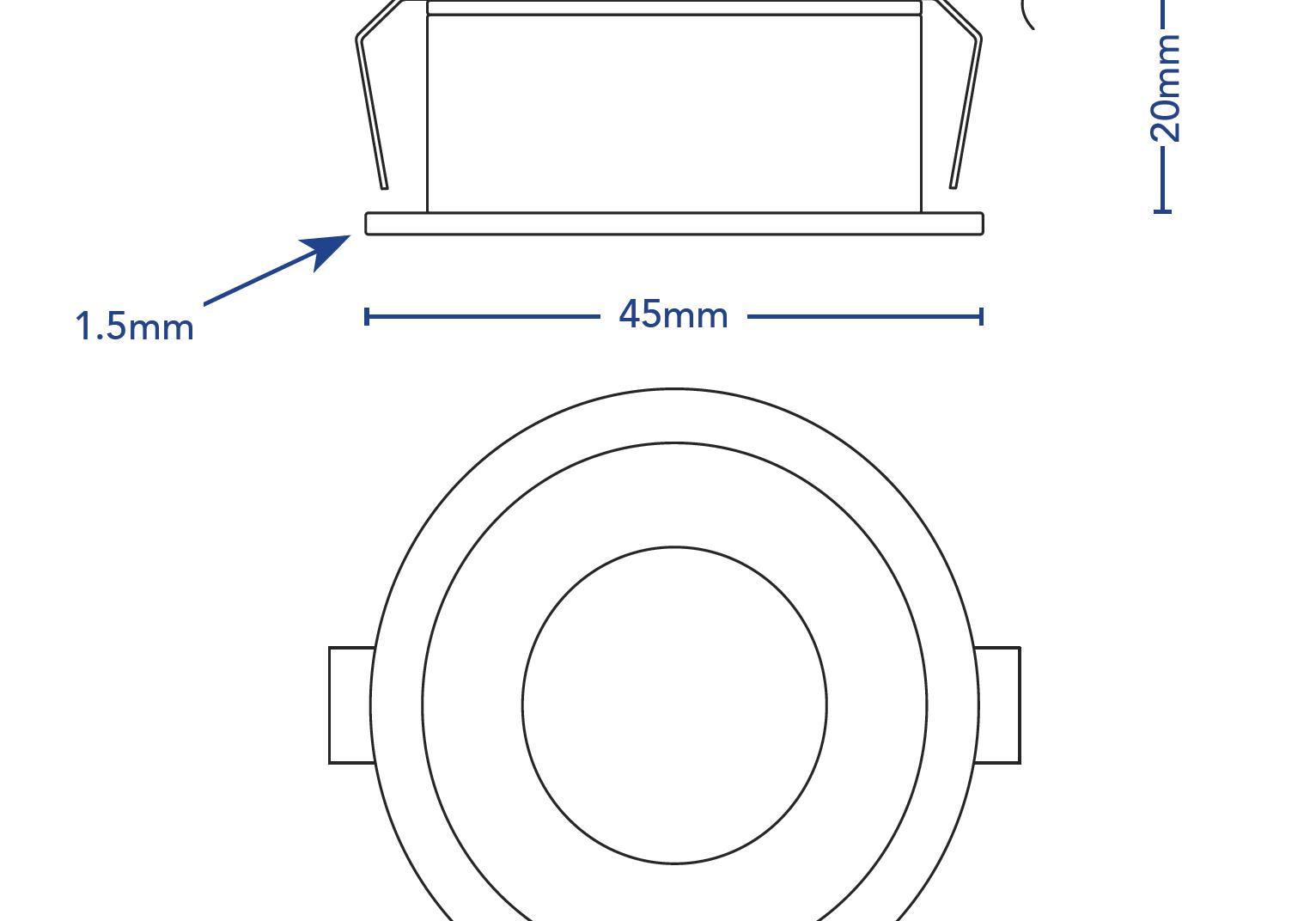 Downlight Minispot Lowprofile.lineart.5031